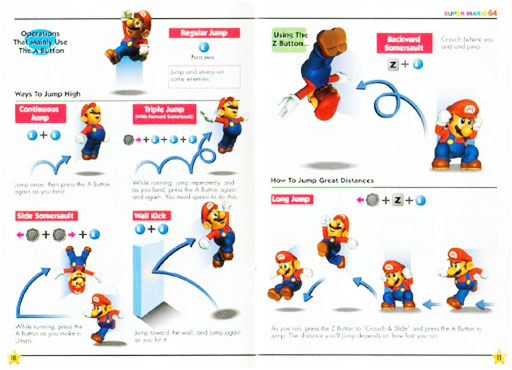 Super Mario 64 gotsa lotsa moves-a
